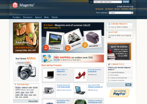 Magento Shop Screenshot